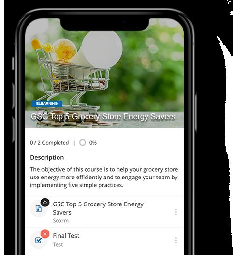 Mobile Phone showcasing Go.Learn App